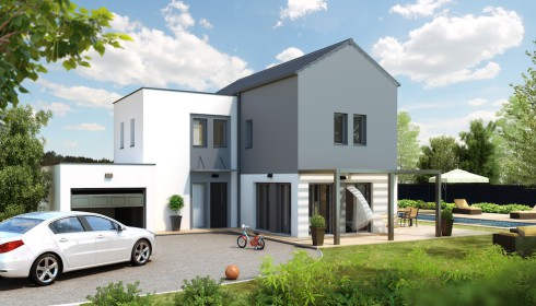 Maisons modernes plans et mod les for Modele maison architecte moderne