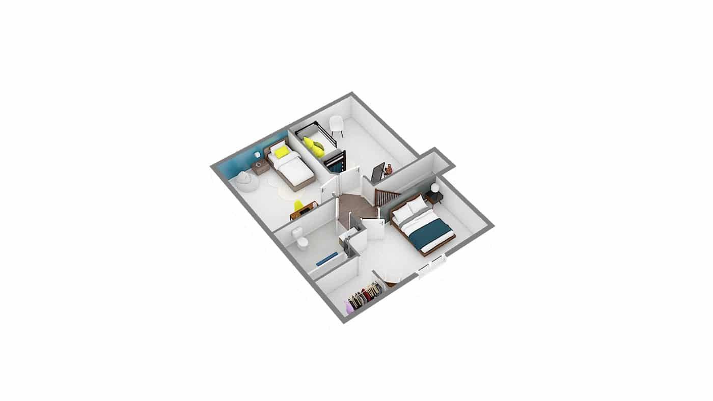 maison a petit prix low cost_focus_85-Etage