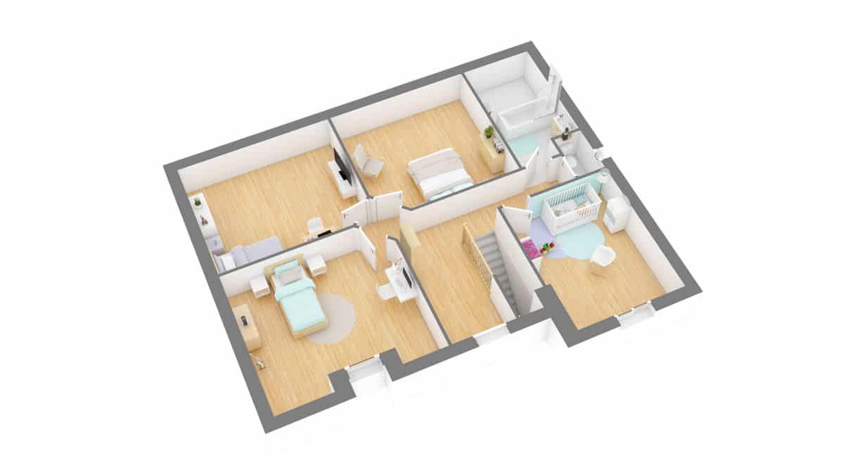 Batilor_plan maison charmontaise r-g1-axo_etage