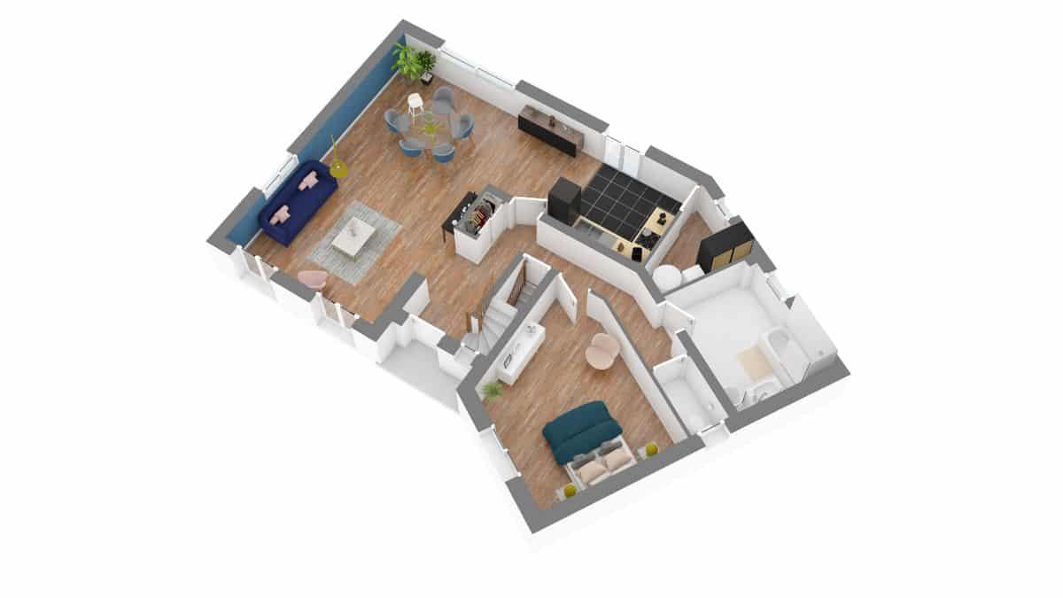 Batilor_plan maison vaudoise-g0-axo_rdc