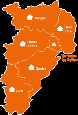 Liste des départements couverts par Batilor