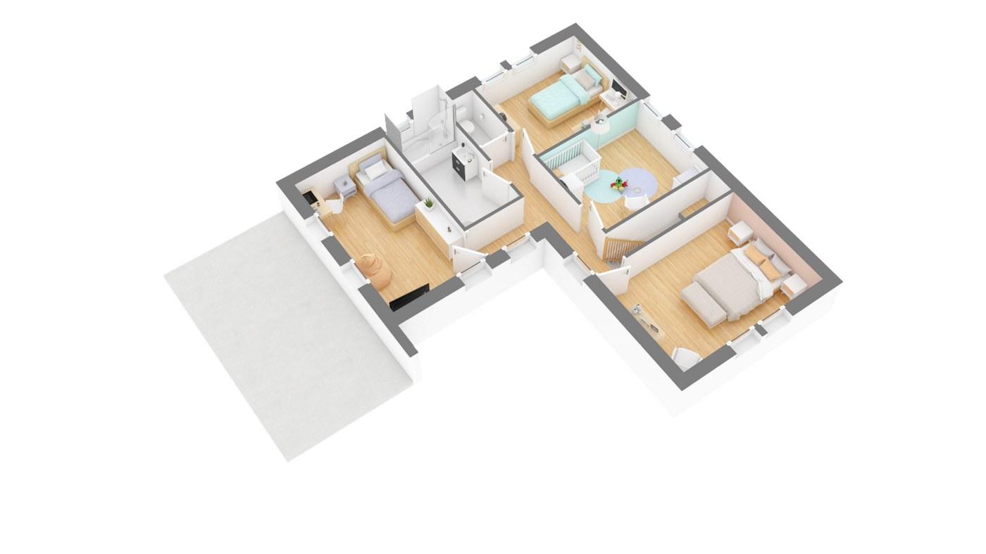 Senza Maison Design A Etage