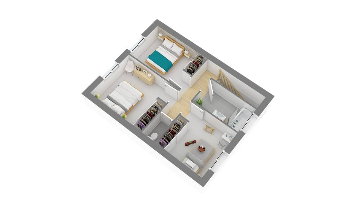 Maisons Batilor_Maison_Focus95-g-axo_etage